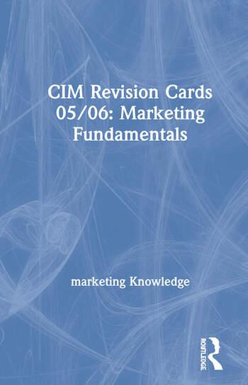 CIM Revision Cards 05/06: Marketing Fundamentals book cover