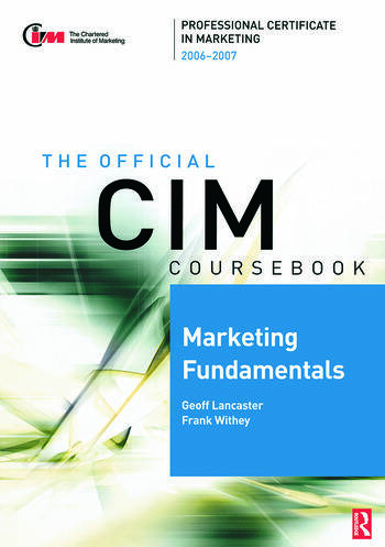 CIM Coursebook 06/07 Marketing Fundamentals book cover