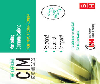 CIM Revision Cards Marketing Communications book cover