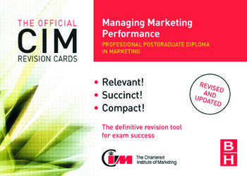 CIM Revision Cards Managing Marketing Performance book cover