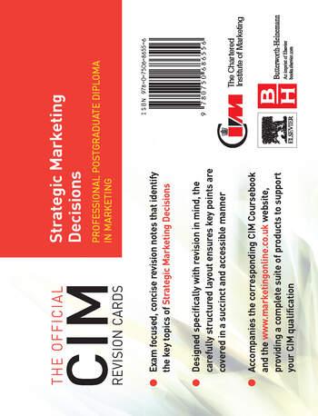 CIM Revision Cards Strategic Marketing Decisions book cover