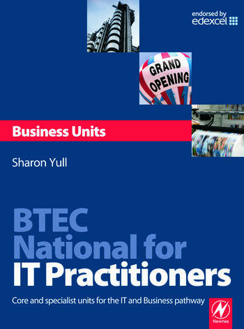 BTEC National for IT Practitioners: Business units book cover