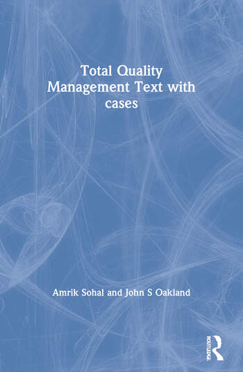 Total Quality Management Text with cases book cover