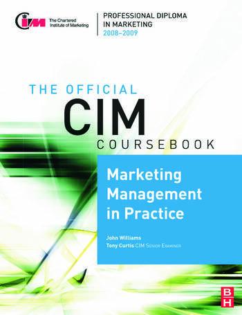 CIM Coursebook 08/09 Marketing Management in Practice book cover