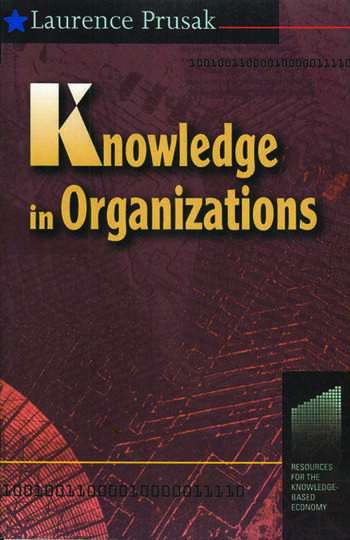 Knowledge in Organisations book cover