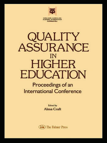 Quality Assurance In Higher Education book cover