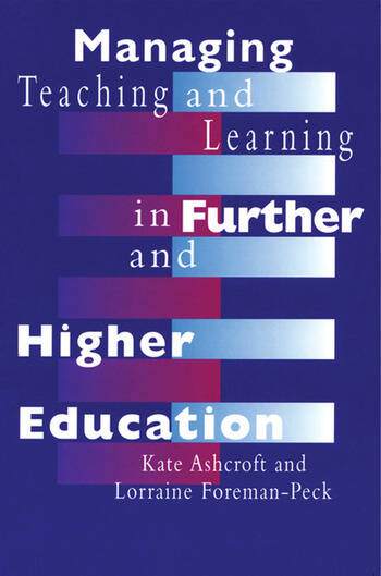 Managing Teaching and Learning in Further and Higher Education book cover