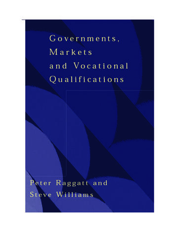Government, Markets and Vocational Qualifications An Anatomy of Policy book cover