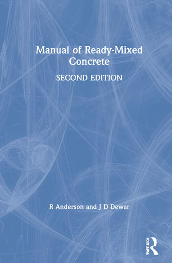 Manual of Ready-Mixed Concrete book cover