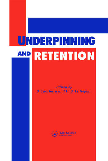 Underpinning and Retention book cover