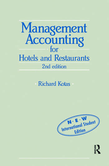 Management Accounting for Hotels and Restaurants book cover