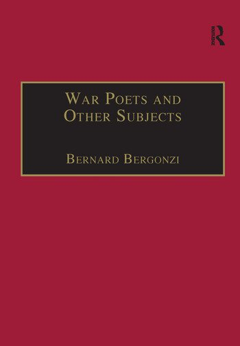 War Poets and Other Subjects book cover