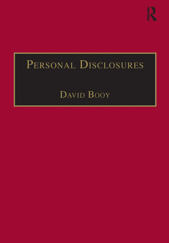Personal Disclosures An Anthology of Self-Writings from the Seventeenth Century book cover