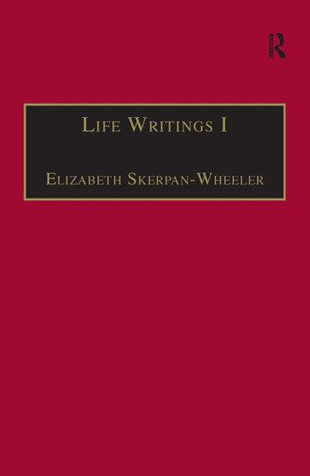 Life Writings I Printed Writings 1641–1700: Series II, Part One, Volume 1 book cover