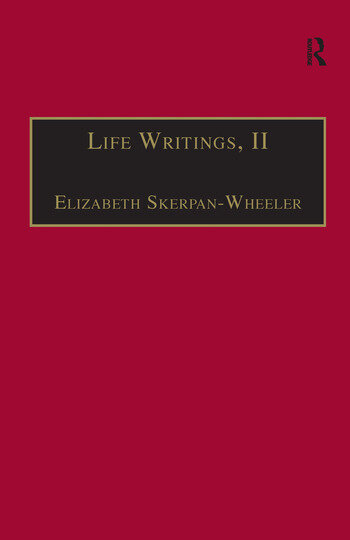 Life Writings, II Printed Writings 1641–1700: Series II, Part One, Volume 2 book cover