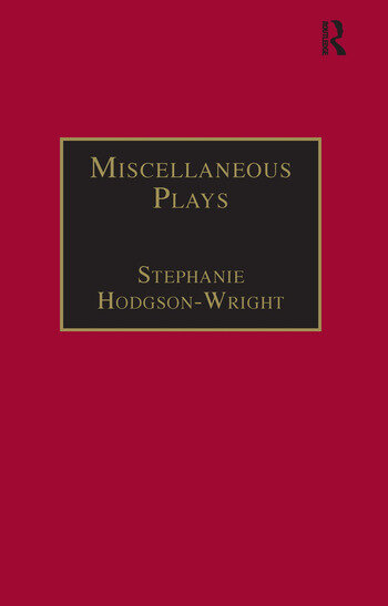 Miscellaneous Plays Printed Writings 1641–1700: Series II, Part One, Volume 7 book cover