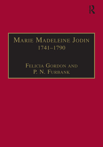 Marie Madeleine Jodin 1741–1790 Actress, Philosophe and Feminist book cover