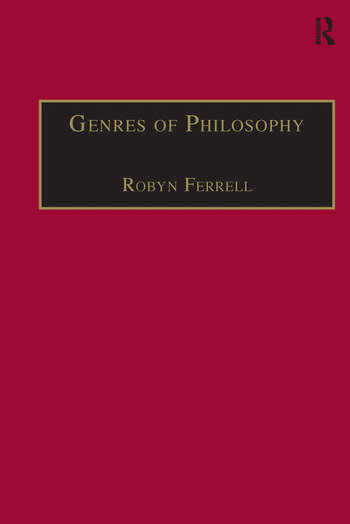 Genres of Philosophy book cover