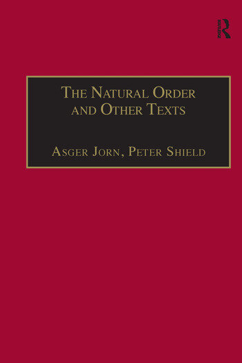 The Natural Order and Other Texts book cover