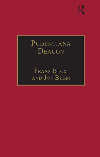 Pudentiana Deacon Printed Writings 1500–1640: Series I, Part Three, Volume 4 book cover