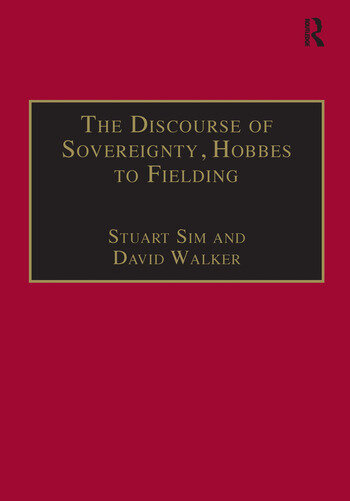The Discourse of Sovereignty, Hobbes to Fielding The State of Nature and the Nature of the State book cover