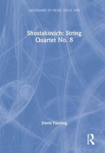 Shostakovich: String Quartet No. 8 book cover