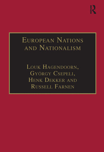 European Nations and Nationalism Theoretical and Historical Perspectives book cover