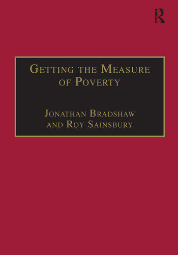 Getting the Measure of Poverty The Early Legacy of Seebohm Rowntree book cover