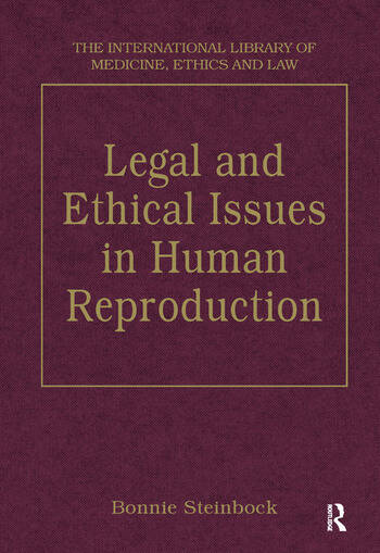 Legal and Ethical Issues in Human Reproduction book cover