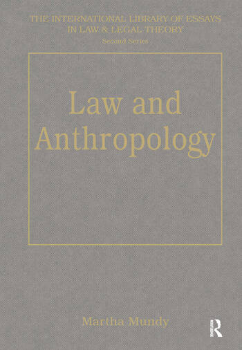 Law and Anthropology book cover