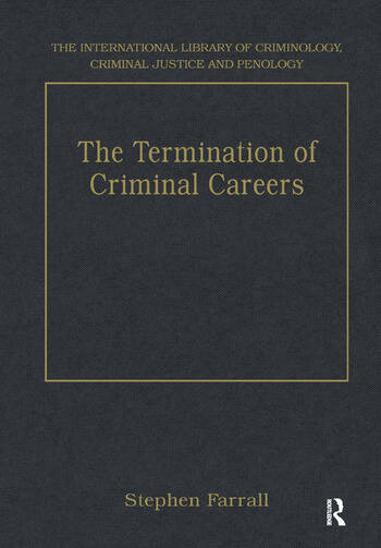 The Termination of Criminal Careers book cover