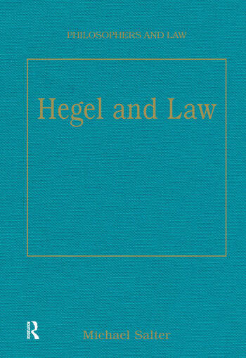 Hegel and Law book cover