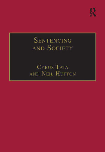 Sentencing and Society International Perspectives book cover