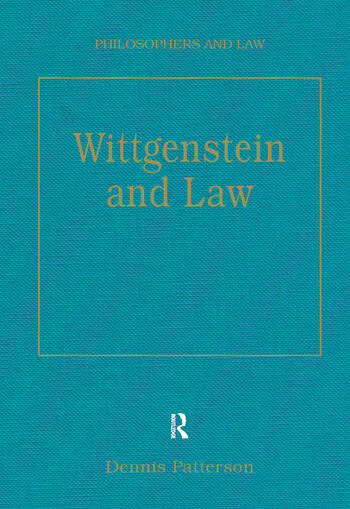 Wittgenstein and Law book cover