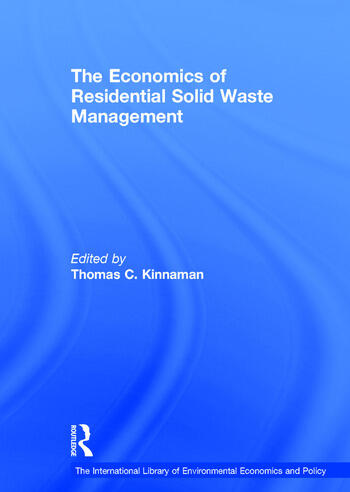 The Economics of Residential Solid Waste Management book cover