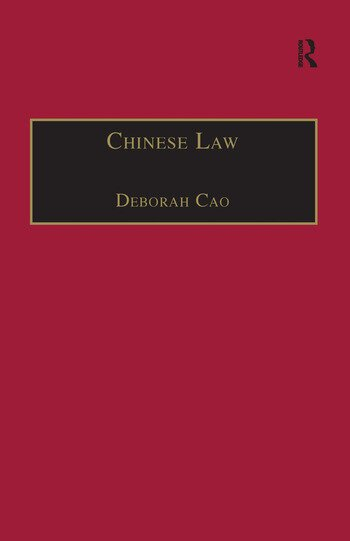 Chinese Law A Language Perspective book cover