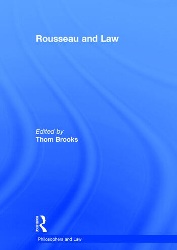 Rousseau and Law book cover