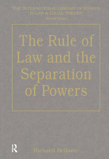 The Rule of Law and the Separation of Powers book cover
