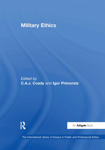 Military Ethics book cover