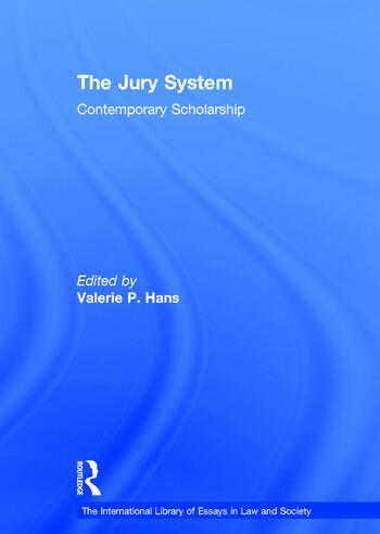 The Jury System Contemporary Scholarship book cover