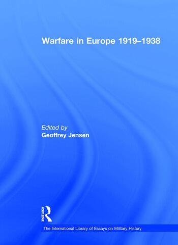 Warfare in Europe 1919–1938 book cover