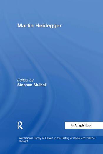 Martin Heidegger book cover