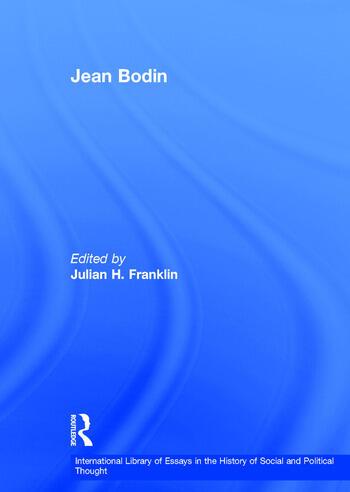 Jean Bodin book cover