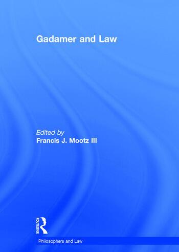 Gadamer and Law book cover