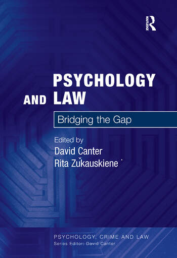 Psychology and Law Bridging the Gap book cover