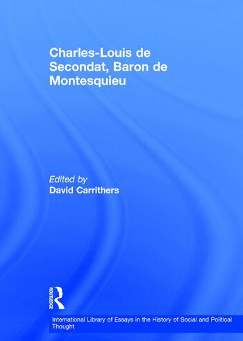 Charles-Louis de Secondat, Baron de Montesquieu book cover