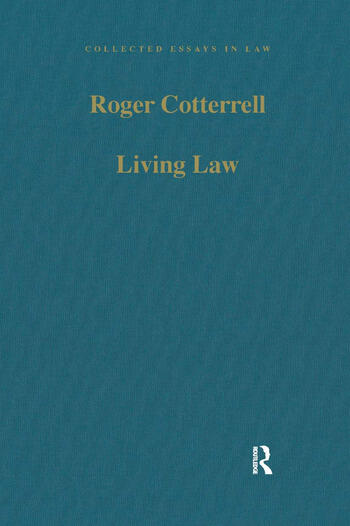 Living Law Studies in Legal and Social Theory book cover