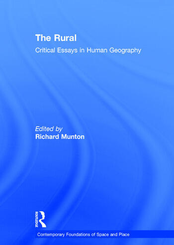 The Rural Critical Essays in Human Geography book cover