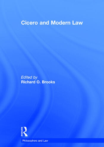 Cicero and Modern Law book cover