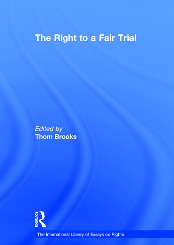 The Right to a Fair Trial book cover